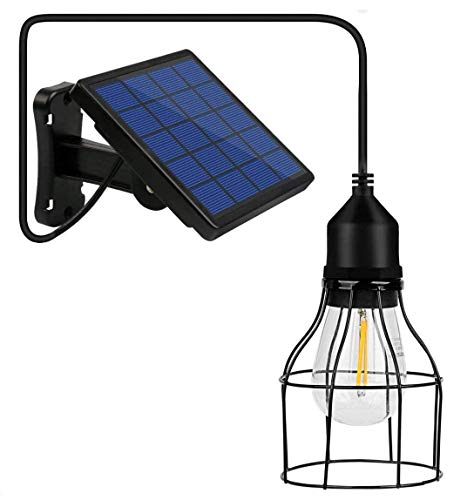 Li-xada Solar Pendelleuchte E27 Außenleuchte...