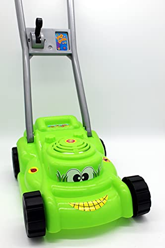 Rasenmäher mit Knattergeräusch beim Fahren...