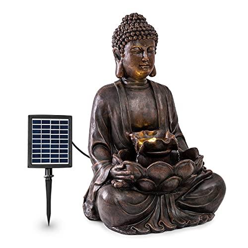 blumfeldt Dharma Solarbrunnen, Gartenbrunnen,...