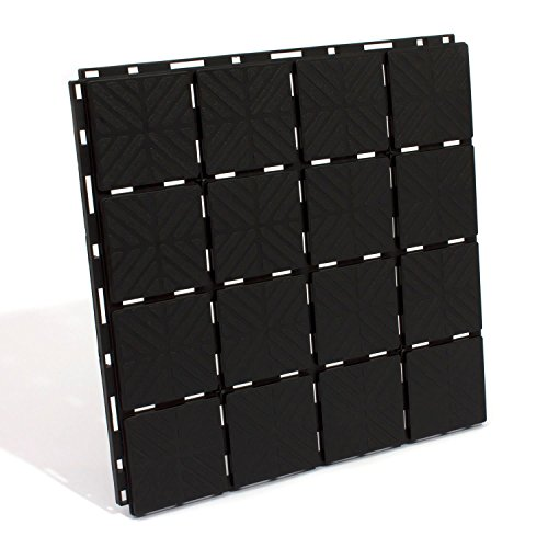 Prosperplast Bodenplatte, schwarz, 40 x 40 x...