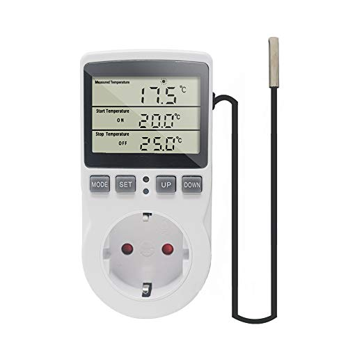 KETOTEK Temperaturregler Steckdose 230V mit...