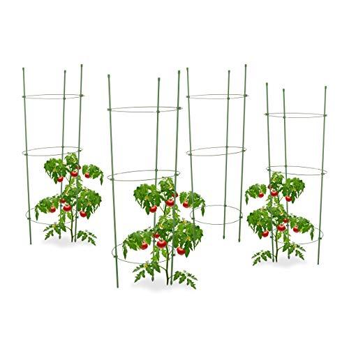 Relaxdays 4X Rankhilfe Tomaten im Set,...