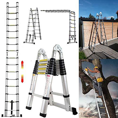 5M Teleskopleiter ausziehbare Leiter...