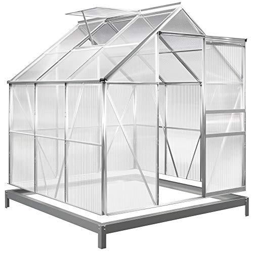 Deuba Aluminium Gewächshaus 3,7m² mit...
