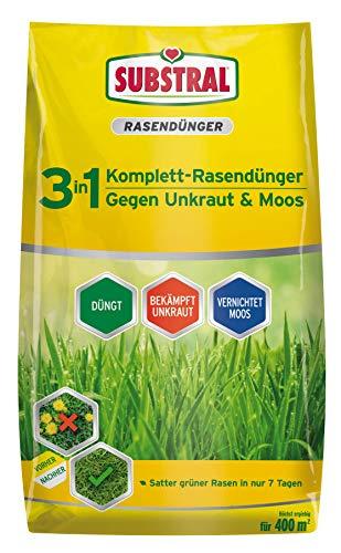 Substral 3 in 1 Komplett Rasendünger mit...