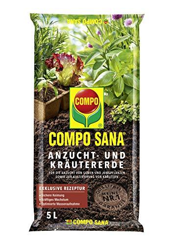 COMPO SANA Anzucht- und Kräutererde mit 6...