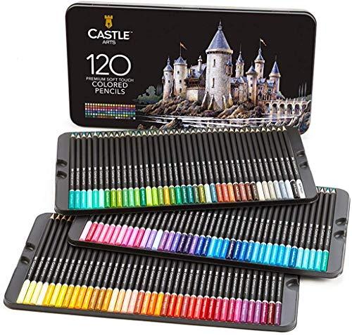 Castle Art Supplies, Set mit 120 Buntstiften...