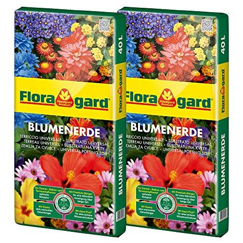 Floragard Blumenerde 2x40 L • Universalerde...